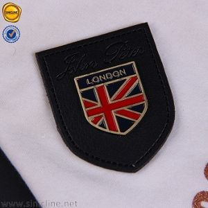 Sinicline Custom Quality Leather Jacket Patches Jeans Leather Patch with Metal