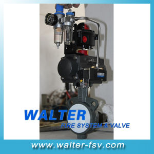 Pneumatic Butterfly Valve PTFE Seated pictures & photos