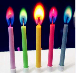 China Magic Colorful Flame Birthday Candle