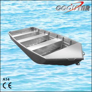 Flat bottom aluminum fishing boats