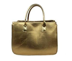 China Supplier Bag Manufacture Direct Whole Golden Lady Pu Handbag