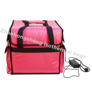 Electric Food Insulated Heated Pizza Takeaway Delivery Warmer Bags