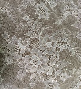 Fashion Nylon Franch Lace Fabric with Sequin