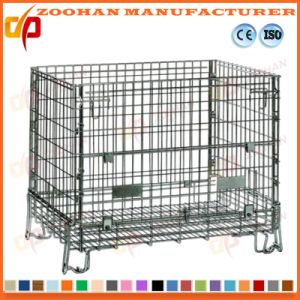 Customized Welded Galvanized Folding Metal Wire Mesh Storage Cages (Zhra15) pictures & photos