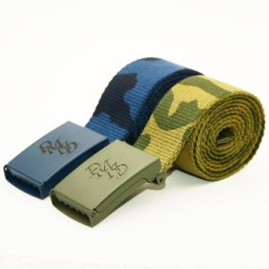 Custom Military Cotton Belts Metal Buckle Camouflage Belt for Solider