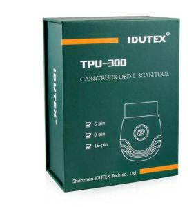 Idutex TPU 300 Heavy Duty Truck Diagnostic Tool and Car Diagnostic Tool 2019 OBD2 Eobd Scanner Bluetooth 12V/24V Support Android pictures & photos