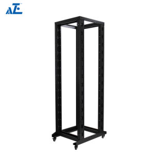 32u Rack 4-Post Adjustable Open Frame Server Rack IT Network FREE Casters