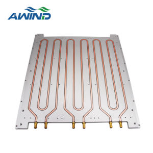 Aluminum Alloy 3-Phase Solid Base Radiator For SSR for rail mounting and cooling