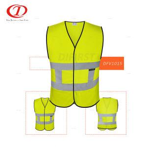 Hi-Vis Safety Vest Reflective Jacket Security Waistcoat Warp Knitting Cloth M2