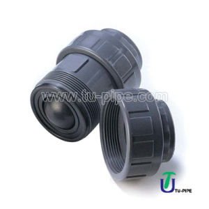 PVC CPVC PP PVDF Ture Union Ball Check Valves (DIN) pictures & photos