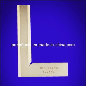 100/x 70/mm Flat DIN 875//00,/Bronzed Precision Bevelled Steel Square