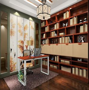 Hot Sale Red Oak Bookcase with High Quality pictures & photos