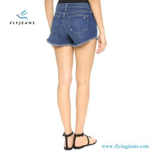 Ladies/Girls Fashion Blue Jeans Mini Pants Denim Shorts by Manufacturer pictures & photos