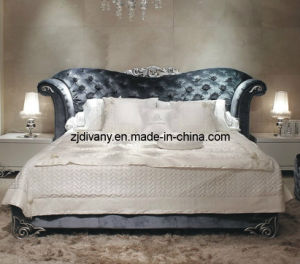 Neo-Classical Style Bedroom Furniture Home Wooden Fabric Bed (LS-411) pictures & photos