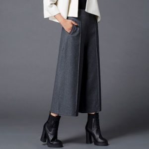 Design Fashion Ladies Elegant Belt Wide-Legged Pants Palazzo Trousers pictures & photos