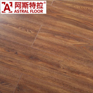 Click System Embossed Surface (V-groove) Laminate Flooring (AS82001) pictures & photos