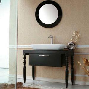 Floor Standing Euro Style Solid Wood Bathroom Vanity Cabinets Fs073