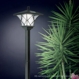 Solar Powered LED Yard Light with 5 Foot Pole for Outdoor Lighting
