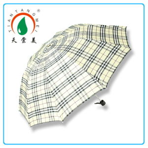 2014 High Quality Fashion Checked Umbrella for Men