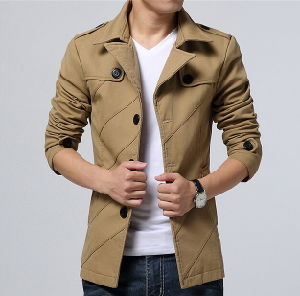 2015 Wholesale Fashion Casual Cotton Jacket for Men pictures & photos