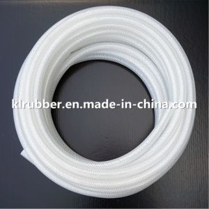 Customize Platinum Cured Transparent Braided Silicone Rubber Hose pictures & photos