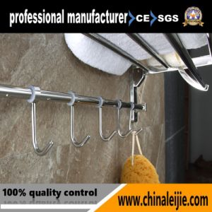 Upward Turning Stainless Steel Bathroom Sanitary Ware Towel Rack (LJ501H) pictures & photos