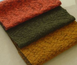 Knitted Texture Wool Fabric for Ladies Wear