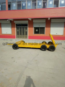 Low Bed 2 Axles Low Bed Semi Trailer (5 tons) pictures & photos