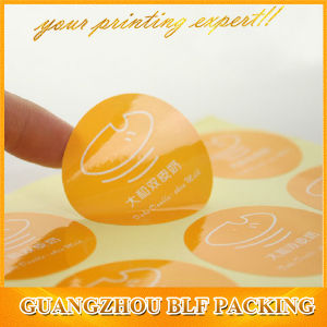 Blf Die-Cut Round Paper Sticker Adhesive Size Label for Garment pictures & photos