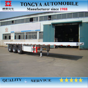 Made in China Tongya Hot Sale Carbon Steel Flatbed Semi-Trailer pictures & photos