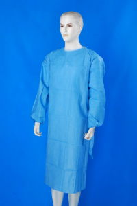 Surgical Gown/Isolation Gown/Disposable Gown/PP SMS Surgical Gown pictures & photos