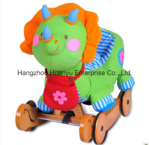 Multifunction Stuffed Rocking Animal-Dinosaur Rocker with Wheels pictures & photos