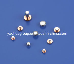 Trimetal Contact Rivets AgCdO, AgNi, AgSnO2
