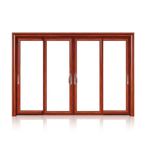 Feelingtop Double Glazing Aluminum Wooden Window (FT- W80) pictures & photos