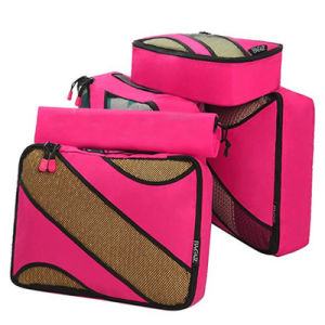 Women Foldable Organizer 4 Set Fancy Travel Storage Toiletry Bag pictures & photos