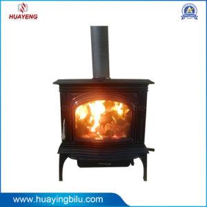 Enamel Cast Iron Wood Burning Fireplace