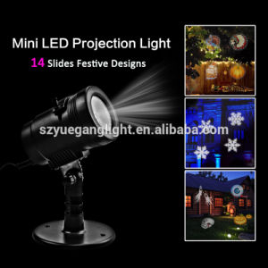 Waterproof LED Projector Light with 14PCS Swithable Pattern Slides