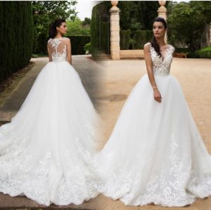 Lace Corset Bridal Ball Gowns Puffy Wedding Dress Mrl2887 pictures & photos