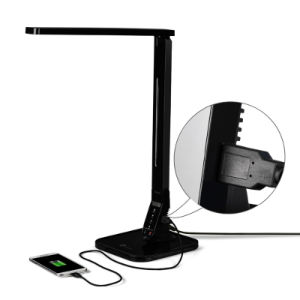 4 Modes 5 Level Adjustable Dimmable Eye-Care LED Desk Table Lamp Reading Light with 2A USB Port Charger