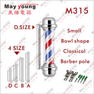 Barber Pole Stripes Rotating Metal Hair Salon Shop pictures & photos