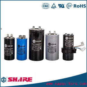 AC Motor Start Black Shell Start Capacitors (CD 60) pictures & photos