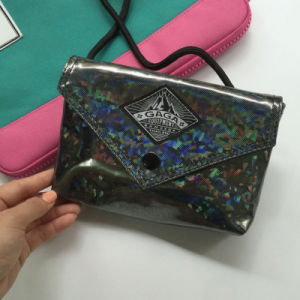 Flash Patterns Simple Black Hasp Shoulder Bag (M009-21)