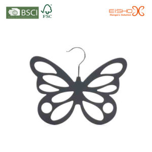Creative Butterfly Shaped Velvet Tie Belt Hanger pictures & photos
