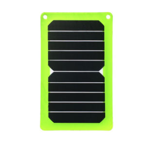 5W Sunpower Solar Panel DC USB Portable Mobile Phone Power Bank Battery Portable Charger