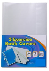 A4 Clear Strong Plastic Protective Exercise Book Slip on Cover Jackets X 10 pictures & photos