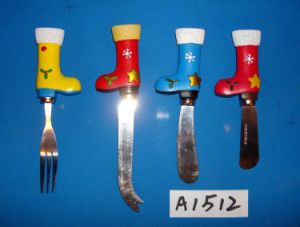 Cheese Knives with Resin Santa′s Boot Decoration pictures & photos