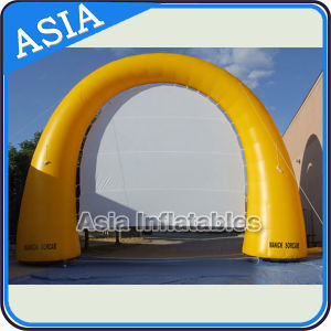 Multifunctional Yellow Outdoor Inflatable Movie Screen Arch for Advertising and Event pictures & photos