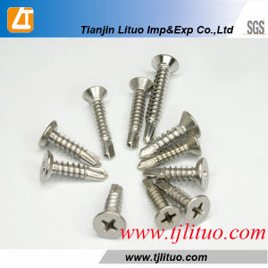 Phillips Flat Head Self Drilling Screws with Zinc Plated pictures & photos
