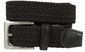 "Men/'s Genuine Leather Woven Braided Casual Dress Belt 1-1//4/"" Wide"