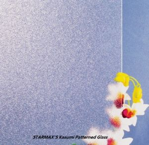 3-6mm Clear Kasumi Patterned Glass